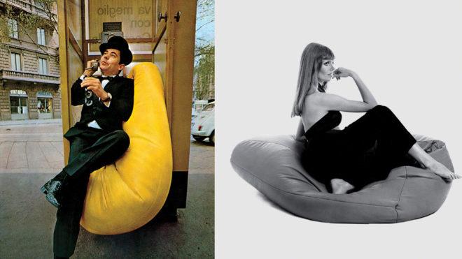 Dos imágenes de los años 60 que ilustraban las posibilidades, incluso lúdicas, de la nueva tipología de asiento.