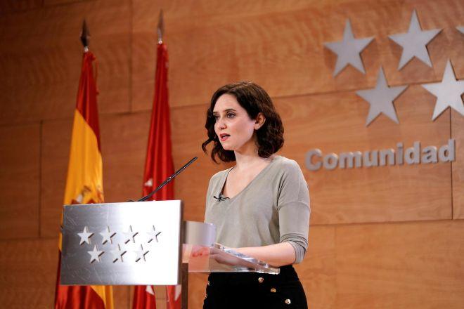 Isabel Díaz-Ayuso, presidenta de la Comunidad de Madrid.