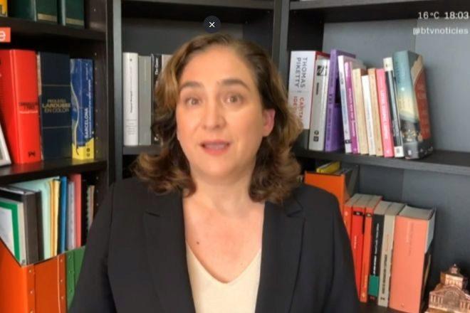 Comparecencia por videoconferencia de la alcaldesa Ada Colau, para...