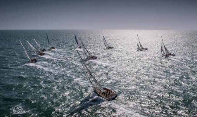 Parte de la flota, durante una salida. | CLIPPER RACE