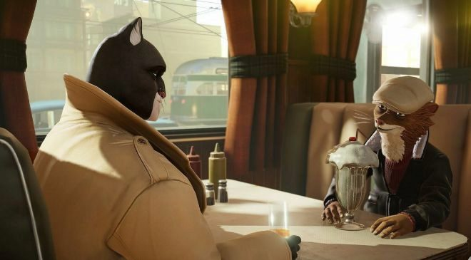 Fotograma del videojuego 'Blacksad: Under the Skin',...