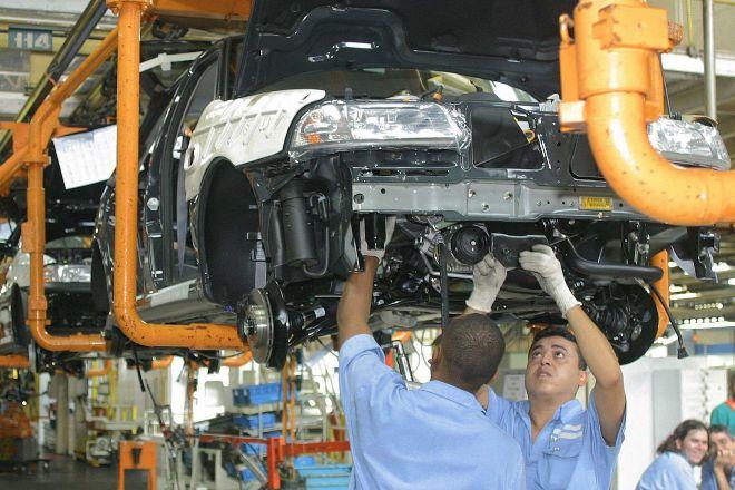 Planta de producción de Volkswagen en Brasil.