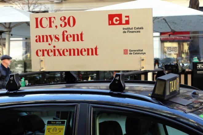 Campaña publicitaria del Institut Català de Finances (ICF) con...