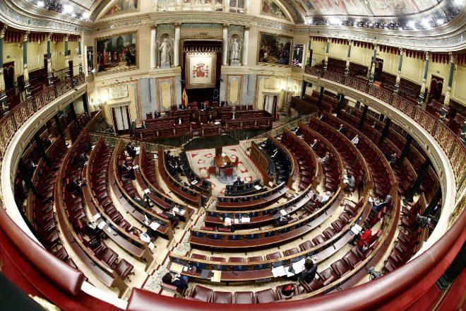 Un momento del pleno celebrado este miércoles en el Congreso de los...