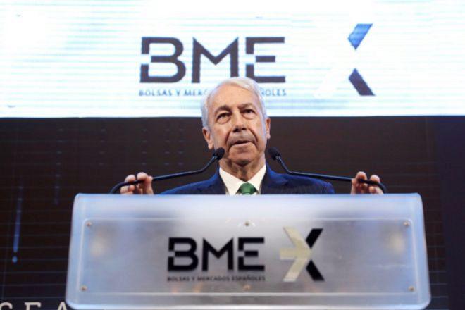 El presidente de Bolsas y Mercados Españoles,  Antonio Zoido.