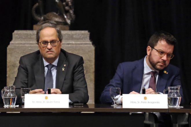 El president de la Generalitat, Quim Torra (JxCat), y el número dos...