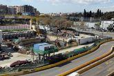 Obras de las Línea 9 y 10 del Metro de Barcelona en el distrito de...