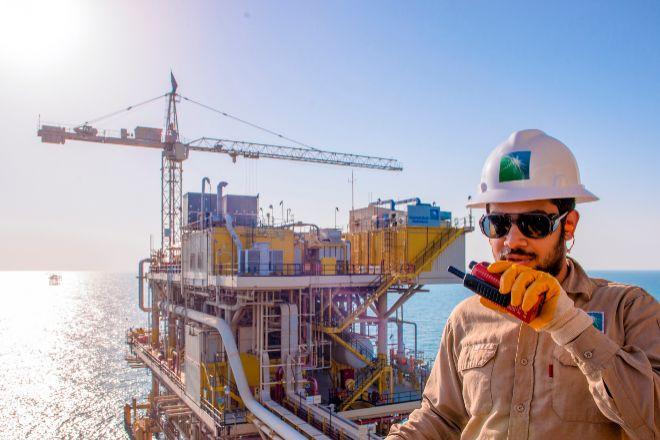 Imagen de una explotación petrolífera de Aramco en Arabia Saudí