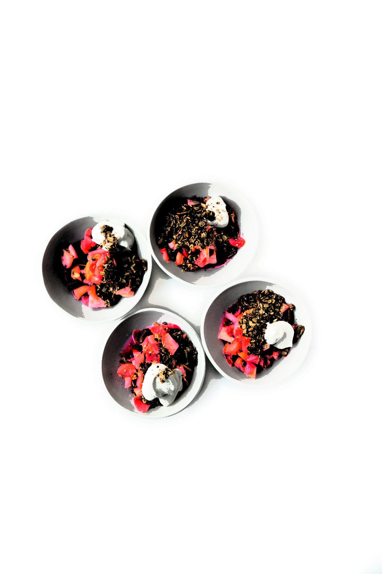 Ingredientes *300 g de fresas *40 g de dátiles...