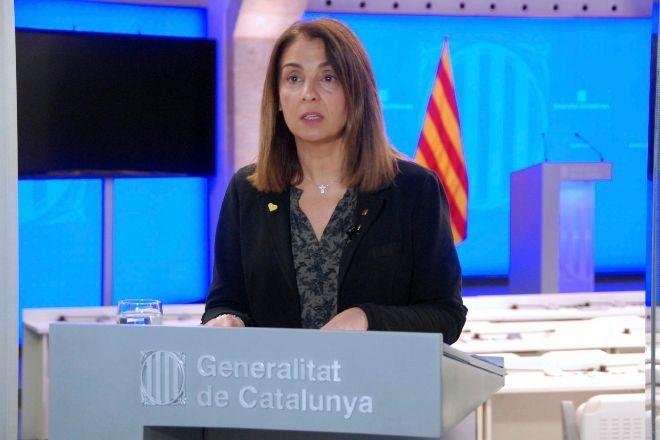 La consellera de Presidència y portavoz del Govern, Meritxell Budó,...