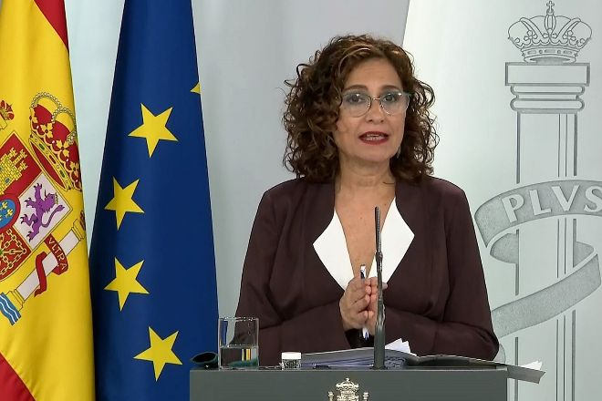 María Jesús Montero es la portavoz del Gobierno y ministra de...