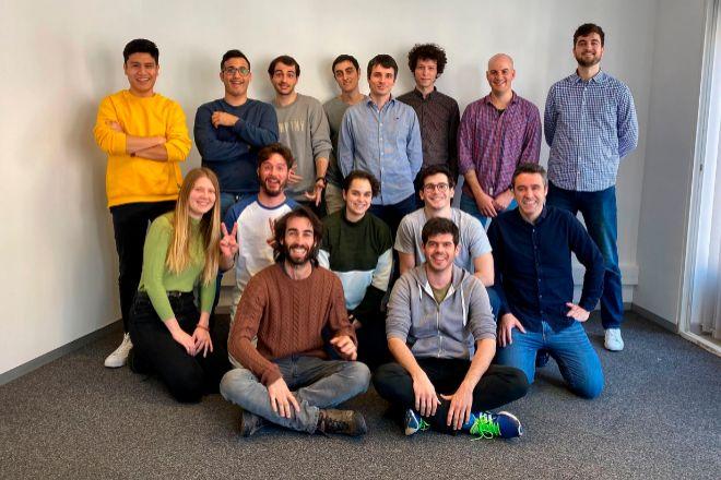 Miembros del equipo de Meyo, en sus oficinas de Barcelona.