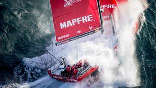 El Mapfre, durante la Volvo Ocean Race 2017/18. | MARÍA MUIÑA