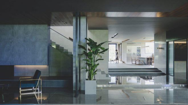 Fotograma de la planta principal de la casa.