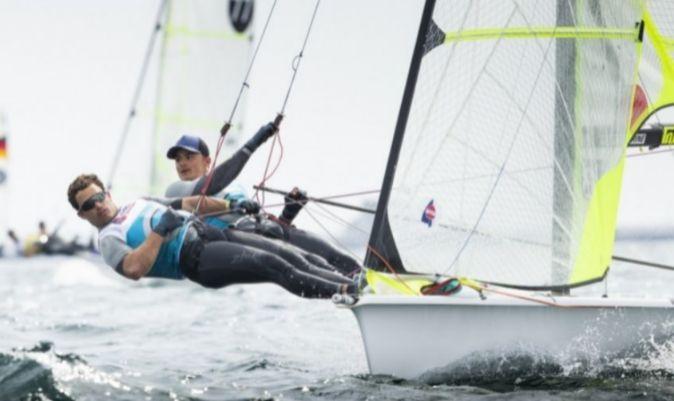 Botín y López-Marra, en aguas de Weymouth, en el Europeo de 2019. | LLOYD