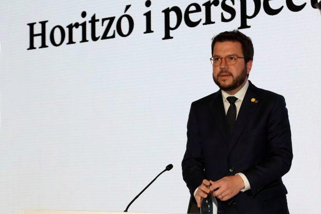 Pere Aragonès, máximo responsable de las finanzas catalanas, en una...