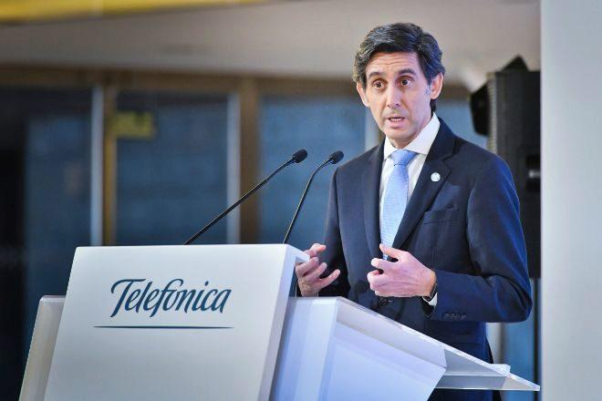 El presidente del grupo Telefónica, José María Álvarez- lt;HIT gt;Pallete lt;/HIT gt;, en la presentación de resultados anuales de 2019 de TELEFONICA. foto JMCADENAS