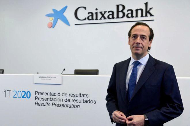 Gonzalo Gortázar, consejero delegado de CaixaBank, en la presentación de los resultados del primer trimestre.