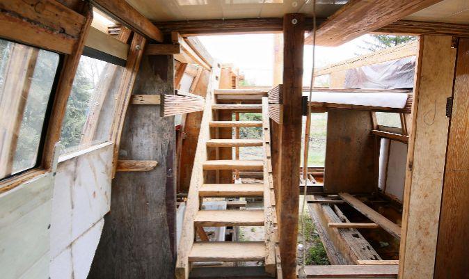 Interior del barco de Jungst.   T. WOJTASIK /EFE