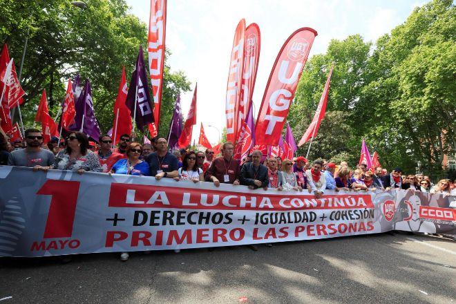 Manifestación del Primero de mayo del año pasado.