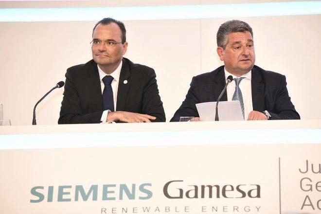 El consejero delegado, de Siemens Gamesa, el alemán Markus Tacke,...