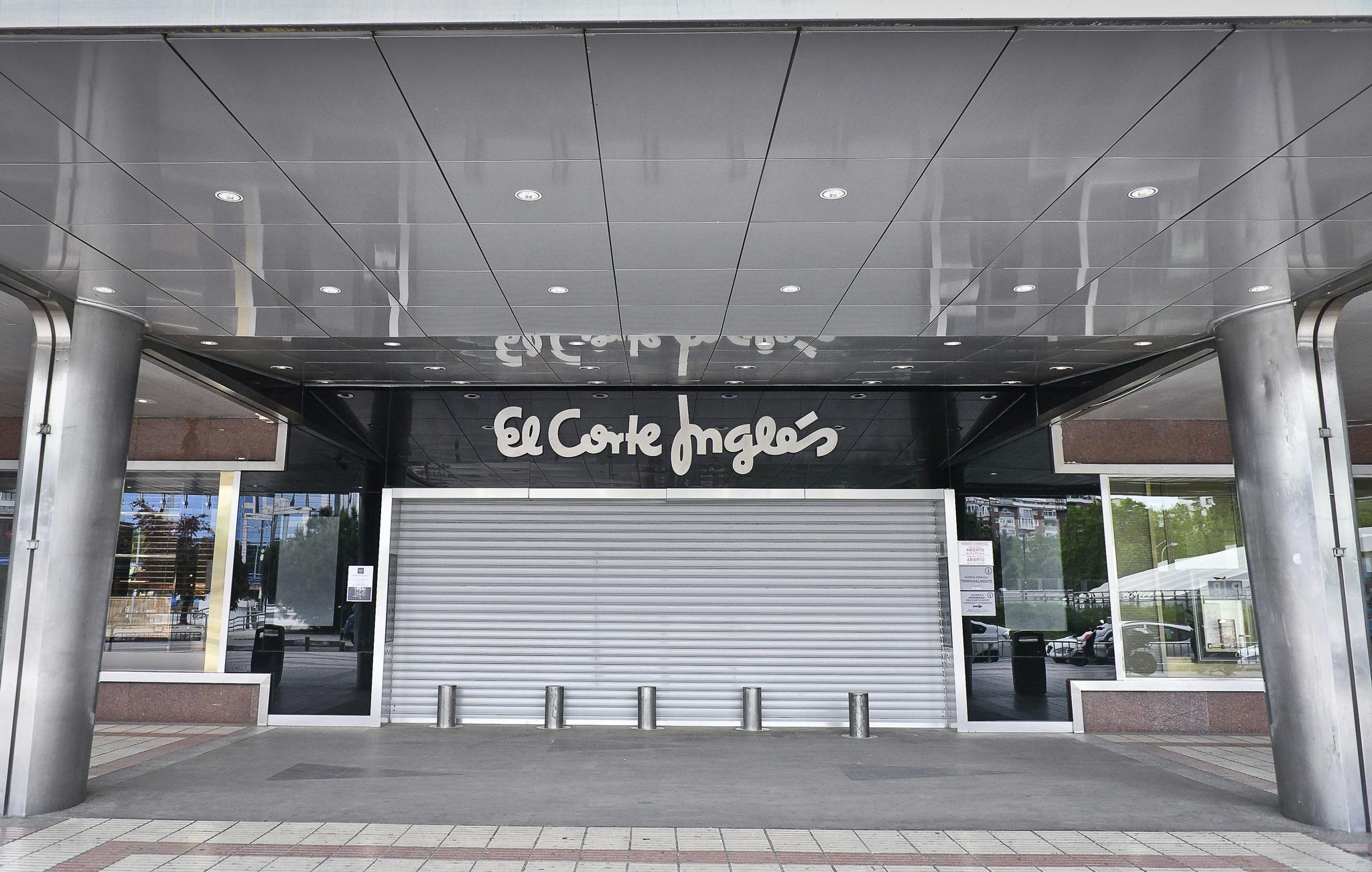 Centro comercial de El Corte Inglés en Madrid.