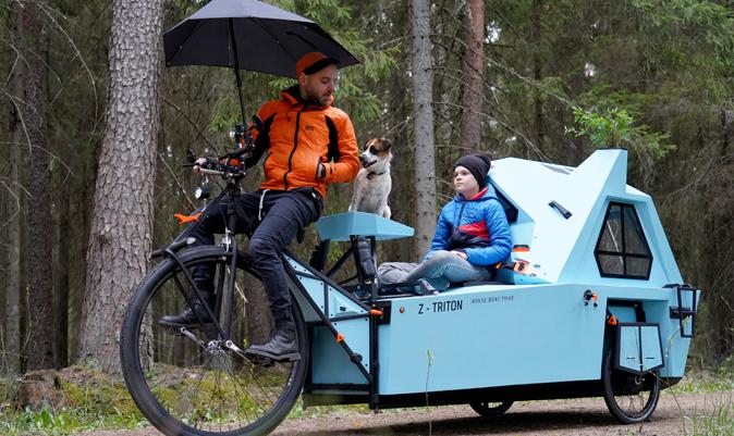 El Z-Triton, en modo triciclo. | J.L / REUTERS