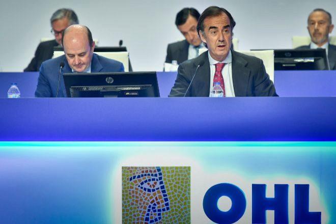 El presidente de OHL Juan Villar-Mir de Fuentes, en la junta de...