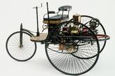 El primer automóvil del mundo, patentado por Carl Benz en 1886, al...