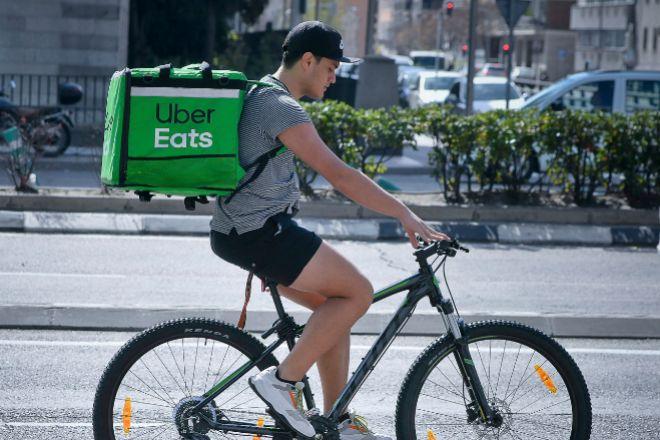 Repartidor de Uber Eats.