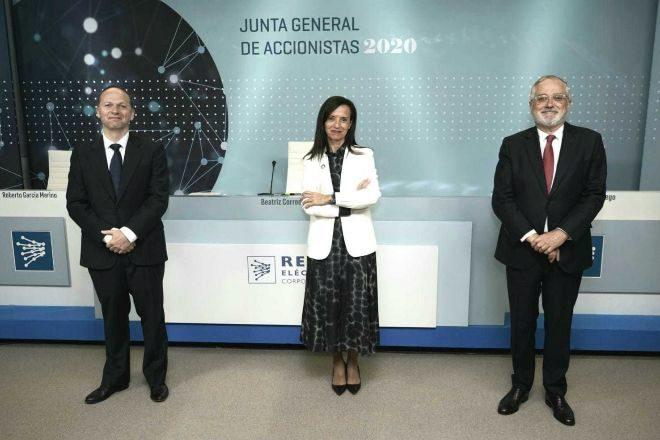 Beatriz Corredor, la presidenta de Red Eléctrica, durante la primera...