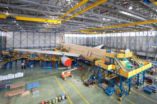Línea de montaje de Airbus en Getafe.