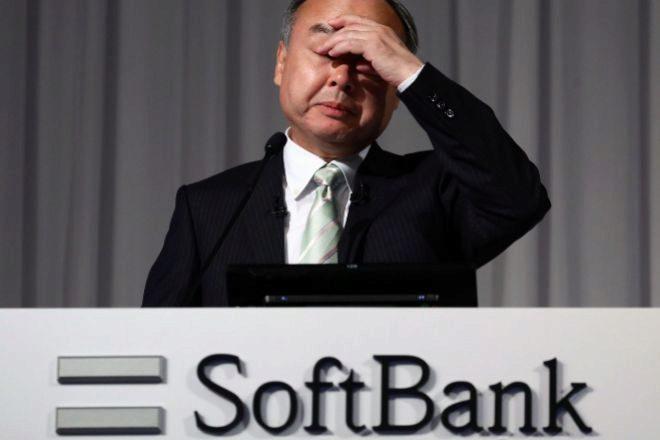 Masayoshi Son, el presidente y CEO de la compañía, durante una rueda...
