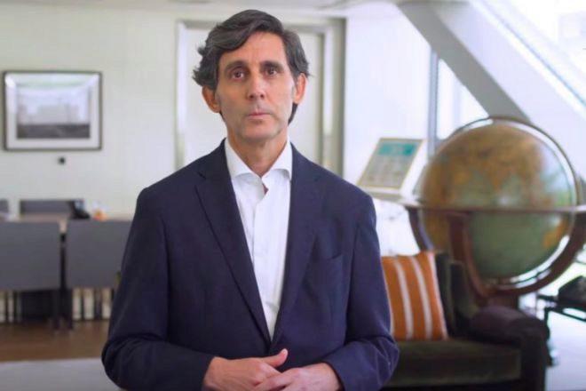 José María Álvarez-Pallete, el presidente de Telefónica, durante...