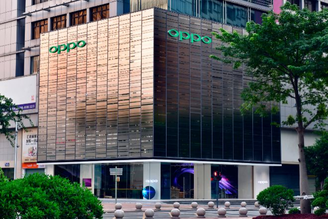 Tienda de Oppo en Shenzhen, China.