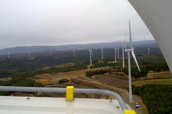 Molinos de viento de Audax en Mudéfer (Terra Alta).