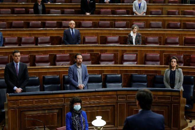 El presidente del Gobierno, Pedro Sánchez en una sesión de control al Gobierno.
