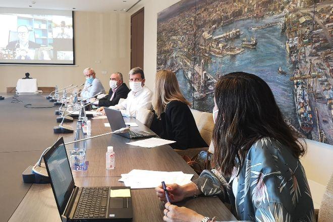 Reunión del consejo de la Autoridad Portuaria de Valencia.