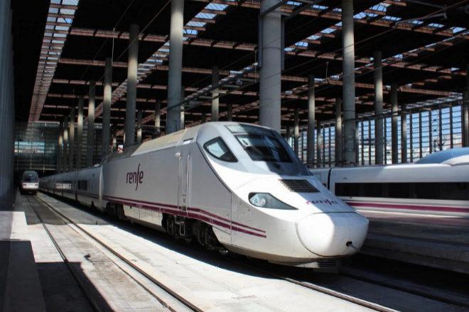 Tren AVE en la estación de Atocha.