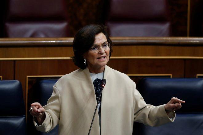 La vicepresidenta primera Carmen Calvo.
