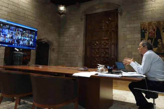 El presidente de la Generalitat de Cataluña Quim Torra.