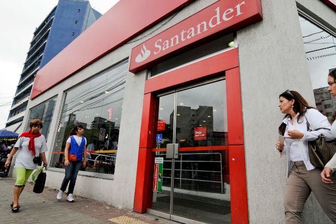 Sucursal de Santander en Brasil, uno de sus grandes mercados.