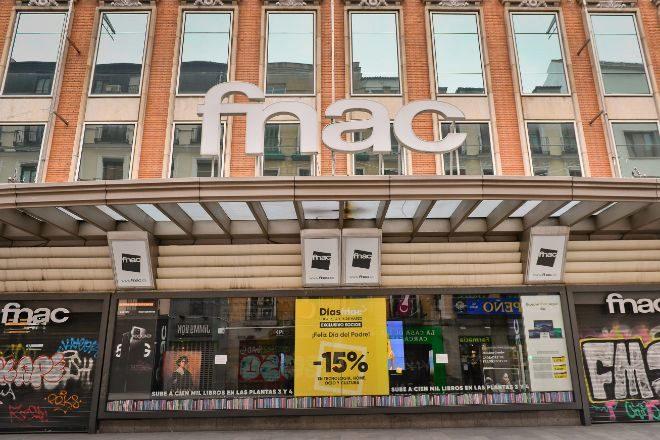 Centro comercial de Fnac en la calle Preciados de Madrid.