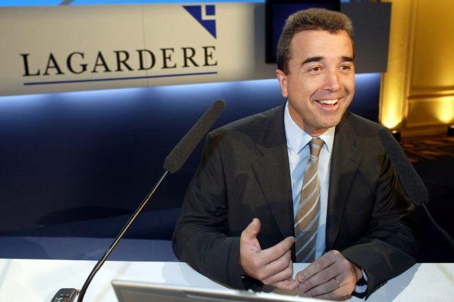Arnaud Lagardère es el presidente del grupo editorial galo...