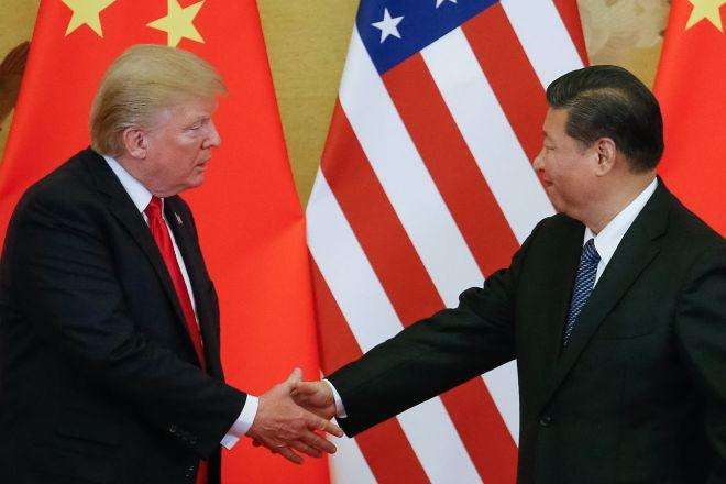 El presidente estadounidense, Donald J. Trump y el presidente chino,Xi Jinping.
