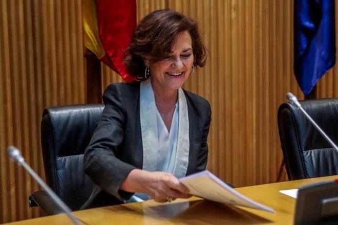 La vicepresidenta primera del Gobierno, lt;HIT gt;Carmen lt;/HIT gt; lt;HIT gt;Calvo lt;/HIT gt;,.
