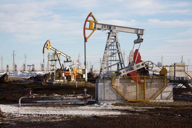 Yacimiento petrolífero en Rusia.