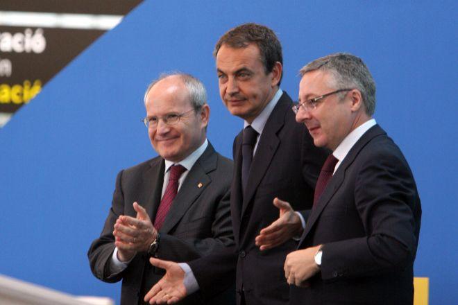 José Montilla, expresident de la Generalitat (izquierda), José Luis...