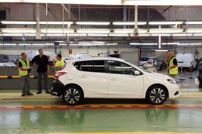Foto de archivo de la planta de Nissan en Barcelona