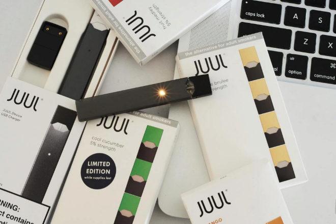 Cigarrillo electrónicos de Juul.